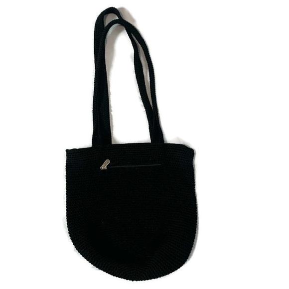 The Sak Handbags - The Sak Black Crochet Bucket Purse  Bag